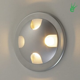 Bruck Lighting Ledra Quattro Wall Sconce Finish: Matte Chrome, Bulb Type: 4000K White