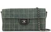 Chanel Pre Owned Choco Bar CC chain shoulder bag