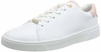 Ted Baker Women's WFK-ZENIP-Leather Trainer with Pink Tipping Shoes