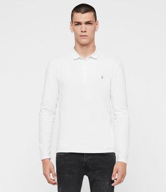 AllSaints Brace Long Sleeve Polo Shirt