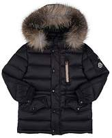 Moncler Kids' Fur-Trimmed Down-Quilted Hooded Parka