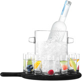 LSA International Paddle Vodka Serving Set & Black Beech Paddle