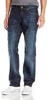 ProjekRaw Projek Raw Men's Boot Cut Dark Denim With Whisker Wash