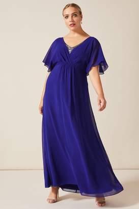Studio 8 Womens Blue Albertina Sequin Maxi Dress - Blue
