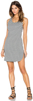 Bobi Cashmere Terry Stripe Midi Tank Dress
