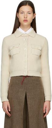 Maison Margiela Off-White Cropped Cardigan