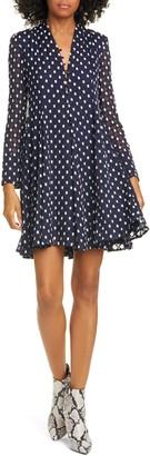 Stine Goya Elisabeth Fil Coupe Long Sleeve Silk Blend Dress