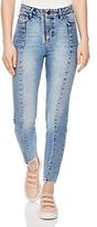 Sandro Miren Cropped Skinny Jeans in Blue