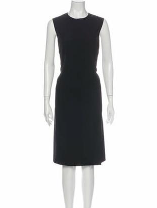 Prada Crew Neck Knee-Length Dress Black