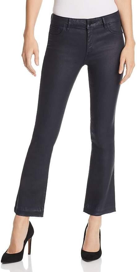 DL1961 Lara Instasculpt Coated Crop Boot Jeans in Marin