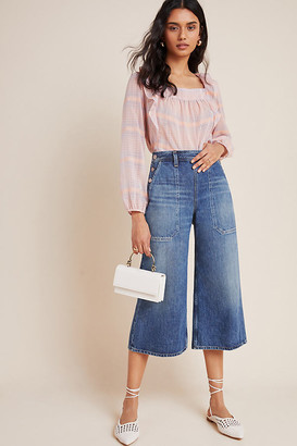 Citizens of Humanity Jackie Ultra High-Rise Cropped Wide-Leg Jeans By in Blue Size 25