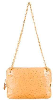 Chanel Ostrich Shoulder Bag