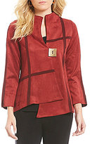 IC Collection Asymmetrical One Button Jacket