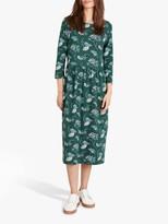 Seasalt Sea Strewn Floral Midi Dress, Tossed Fennel Verte