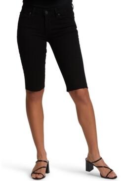 Hudson Cutoff Denim Bermuda Shorts