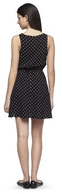 Junior's Lace Front Fit & Flare Dress