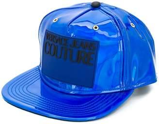 Versace logo-patch snap-back cap