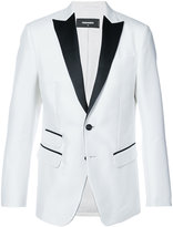 DSQUARED2 contrast fitted blazer - men - Silk/Cotton - 46
