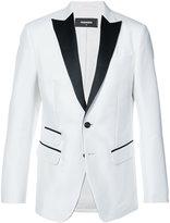 DSQUARED2 contrast fitted blazer - men - Silk/Cotton - 48