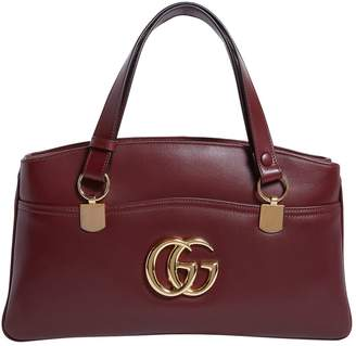 Gucci Large Leather Arli Top Handle Bag