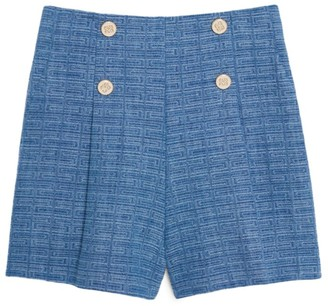 Sandro Paris Jacquard Denim Shorts