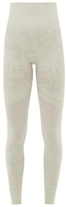 adidas by Stella McCartney Snake-jacquard Technical-knit Leggings - Womens - Green