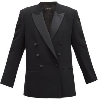 Isabel Marant Peagan Double-breasted Wool-twill Tuxedo Jacket - Black