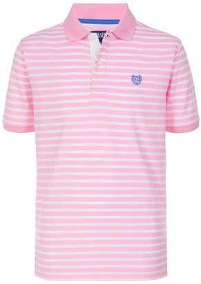 Chaps Boys 4-20 Feeder Strip Closed Mesh Polo