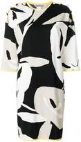 Max Mara contrast trim printed dress