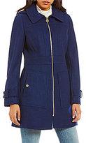 MICHAEL Michael Kors Mid Wool Zip Front Hooded Coat