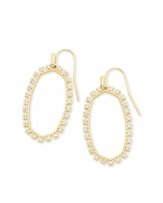 Kendra Scott Elle Open Frame Crystal Drop Earrings