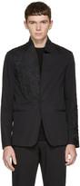 Isabel Benenato Black Embroidered Blazer