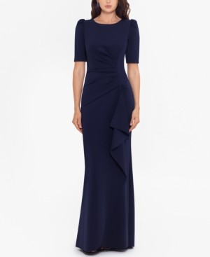 Xscape Evenings Ruched A-Line Gown