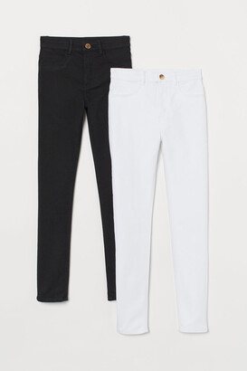 H&M 2-pack Twill Pants - White