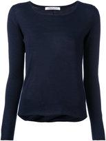 Lamberto Losani draped back jumper - women - Virgin Wool/Silk - S
