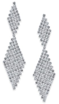 INC International Concepts I.n.c. Silver-Tone Crystal Mesh Drop Earrings, Created for Macy's