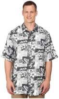 Tommy Bahama Big Tall Plumeria Patchwork Tortola Silk Camp Shirt Men's Clothing
