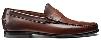 Santoni Leather Moccasin Penny Loafers