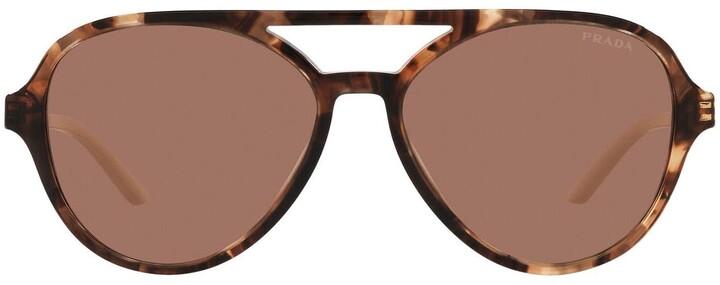 Prada Pr 13ws Caramel Tortoise Sunglasses