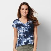 Petite SONOMA Goods for LifeTM Embroidered Tie-Dye Tee