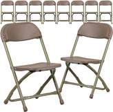 Flash Furniture 10 Pk. Kids Plastic Folding Chair