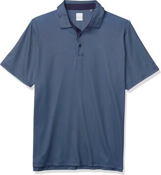 Callaway Men's Big & Tall Gingham Printed Short Sleeve Golf Polo Shirt
