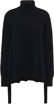GOEN.J Asymmetric Knitted Turtleneck Sweater