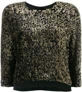 Lanvin metallic cropped jumper
