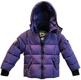 Hawke & Co Cosmic Purple Thumbhole Cuff Puffer Coat - Toddler