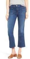 Mother Women's Patch Pocket Crop Bootcut Jeans