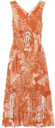 See by Chloe Sleeveless printed cotton dress