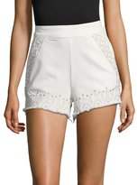 Blank NYC Embroidered Distressed Trim Short