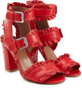 Laurence Dacade Ruffled Leather Sandals