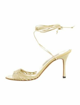 Manolo Blahnik Leather Sandals Yellow